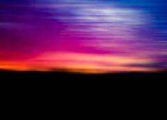 Sunset ... (Julie Greg) Tags: abstract blur yellow black dark blue purple orange sunset art colours canon 5d mark iv magic