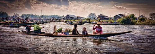 boats burma holidays inlelake intha lightroom longboats markets myanmar onestoptraveltours topazlabs