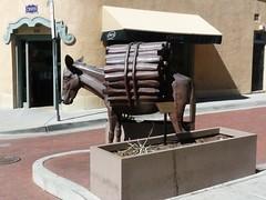 Burro Alley (honestys_easy) Tags: nm newmexico santafe southwest madrid sculpture burro donkey bronze burroalley