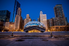 The bean (selo0901) Tags: sunrise cloudgate bean chicago