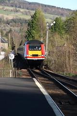 43274 Pitlochry, Scotland (Paul Emma) Tags: uk scotland perthkinross pitlochry railway railroad dieseltrain train testtrain 37421 class37 37057 hst 43274