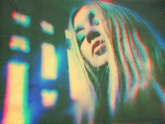 Lost in technicolor (BLACK EYED SUZY) Tags: lost technicolor self portrait blonde distorted blurry afterlight glitché