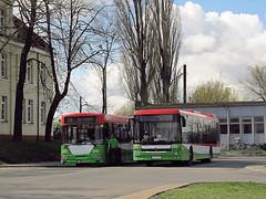 Jelcz M121M, #2243 & Autosan M12LF, #2411, MPK Lublin (transport131) Tags: bus autobus ztm lublin jelcz m121m mpk autosan sancity m12lf