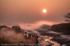 Misty Sunrise Over Beaumont Quay in Essex (1936matt) Tags: sea beauty reserve nature tendring beaumont backwaters essex mood coastal coast colour seascape landscape mist weather sun sunrise