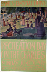 """Save Memorial Drive, Recreation Day on the Charles"" (Cambridge Room at the Cambridge Public Library) Tags: colorprintsphotographs cambridgemass memorialdrive posters"