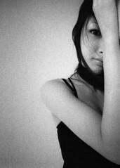Il Nome della Rosa (TommyOshima) Tags: kinakokocteau monochrome blackandwhite blackwhite leica m3 superwideheliar 15mm f45 ilford delta3200 2011 female girl eyes portrait
