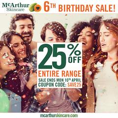 Save 25% OFF McArthur Skincare 6th Birthday Sale Ends Soon! (mcarthurskincare) Tags: mcarthurskincare mcarthursale pawpaw papaya skincare onsale salenowon sale bargains