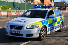 Merseyside Police Volvo V50 D5 Roads Policing Unit Traffic Car (PFB-999) Tags: merseyside police volvo v50 d5 estate roads policing unit rpu traffic car vehicle lightbar grilles fendoffs leds aj58wpk grand national liverpool