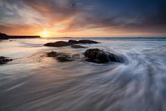 Tidal (T_J_P) Tags: cornwall beach sennen coast sea rocks water ocean tide tidal sunset colour nature
