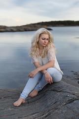 (Øyvind Bjerkholt (Thanks for 39 million+ views)) Tags: fashion beauty portrait feminine elegance classy blonde beautiful gorgeous pretty sensual woman girl female she jeans denim curly water canon bokeh dof arendal norway ambientlight