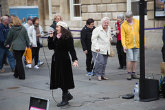 Bath Jazz Singer (thulobaba) Tags: entertainer busker beret passion vocalist voice jazz bath england city street singer music musician female
