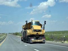 Wide load 4/13/2017 (THE RANGE PRODUCTIONS) Tags: caterpillar truck dumptruck lowboy tractortrailer bigrig 18wheeler heavyhaul heavyequipment equipment construction newmexico