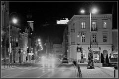 Brașov night ,BW (T.S.Photo (Teodor Sirbu)) Tags: romania bw brașov city street europe eu