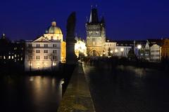 ghosts on Charles Bridge, Prague (kalakeli) Tags: prag prague praha 2017 march märz moldau vltava nightshots nachtaufnahmen blauestunde bluehour langzeitbelichtung longexposure karlsbrücke charlesbridge karlůvmost