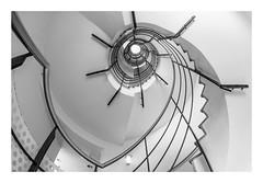 Spiral Staircase - view up (K.H.Reichert) Tags: treppenhaus pattern deutschland curves germany stairs rundung prenzlauerberg round wendeltreppe treppe kurven spiralstaircase bogen staircase stairway architecture architektur spirale rund spiral colors prenzlauerallee berlin architectur upview muster