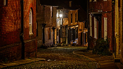 Descending West Street at Night (Brett of Binnshire) Tags: night road locationrecorded scenic cobbledstreet rye eastsussex streetscene england