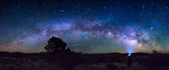 The Milky way sets over the Dark Sky Sanctuary (Sagra-KS) Tags: milkyway night star camp travel starscape landscape newmexico cosmiccampground gilanationalforest