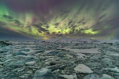 'Just Add Ice' - Jokulsarlon, Iceland (Kristofer Williams) Tags: night sky stars nightscape glacier glacial glacierlagoon jokulsarlon iceland aurora auroraborealis northernlights icebergs