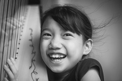 Happiness Is ... YOU (Anna Kwa) Tags: portrait k smile moment annakwa nikon d750 afsvrmicronikko105mmf28gifed my happiness always you beyou seeing soul heart throughmylens whattheworldneedsnowislove rumer harp harpist music passion love whatmatters sosocute3
