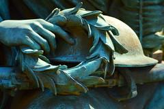 Let there be peace (radargeek) Tags: pa pennsylvania wreath helmet rifle statue masonicvillage augustuslukeman veteransgrove honor peace victory