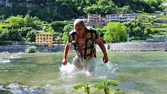 Valsugana Trentino (marcostetter) Tags: wet shower nude camping wetshirt wetjeans wetlook river alps italy travel trip roadtrip wetclothing coldwater reise caravan wohnmobil mensfashion wetfashion people