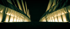 The bridge over Stirling station (joshdgeorge7) Tags: scotland stirling night contrast pentax bridge dynamic