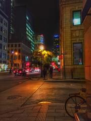 Night view... (Sherrianne100) Tags: citylights bigcity streetphotography nightscene montreal canada