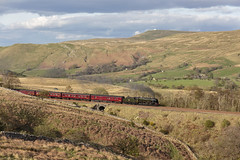 In the hills of Mallerstang (EltonRoad) Tags: 46115 scotsguarsdman royalscot class steam train loco locomotive engine railway line settle carlisle mallerstang kirkbystephen cumbrianmountainexpress cumbria railwaytouringcompany westcoast sc