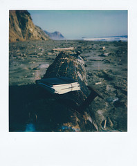Notebook Full of Memories - Point Reyes, CA (michaelbehlen) Tags: polaroid polaroids instant film nature landscape seascape pacific ocean point reyes south beach california sun 660af impossiblefilm impossibleproject analog
