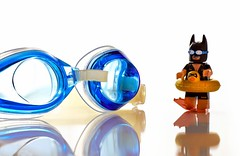 Let's  go  swimming (nicoheinrich86) Tags: blue glases swimming batman lego