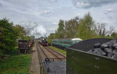 Great Central Railway Quorn Leicestershire 19th April 2017 (loose_grip_99) Tags: greatcentral railway railroad rail quorn leicestershire eastmidlands england uk train steam engine locomotive ivatt 2mt 260 lms 46521 fowler 3f 060t tank 47406 jinty passing preservation transportation gassteam uksteam tender coal signals semaphore trains railways easter april 2017