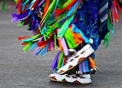 for 7DWF, Crazy Tuesday Theme: Shoes (Dee Gee fifteen) Tags: 7dwf crazytuesdaytheme shoes nativeamericandancer colorful mocassins motion