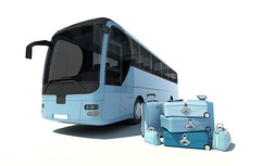 Coach travel (kaannc7) Tags: bus coachbus tourbus traveltransportation tourism journey luggage baggage suitcase case charter holidays passenger shuttle transit transport vacation vehicle 3drendering blue spain