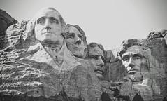 Mount Rushmore National Memorial, South Dakota. (faungg's photos) Tags: travel blackandwhite southdakota nationalpark mountrushmore faces stone carved history historic historical sculpture 旅游 南达科他州 黑白 总统山 石刻 历史