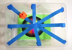 Sticky Web Tape and Paper Game (judy_jowers) Tags: craft game art engineering spider web strong cheapskate children games activities science biology kids astrobrights paper 3m masking tape painters ideas