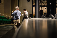 Hypnotic Brass Meets Hoover Brass (Phil Roeder) Tags: desmoines iowa desmoinespublicschools hooverhighschool hypnoticbrassensemble students music musicalinstrument canon6d canonef50mmf18 canon50mmf18