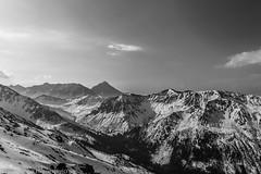 Mountain (Lost_In_Passion) Tags: mountain top mountainside blackwhite black white bw monochrome simplysuperb sky skyline sno snow