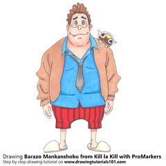 Barazo Mankanshoku from Kill la Kill with ProMarkers [Speed Drawing (drawingtutorials101.com) Tags: barazo mankanshoku kill la japanese anime kiru ra trigger promarkers promarker marker markers color coloring draw drawing drawings alcohol how