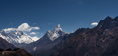 Everest panorama (vlastimil_skadra) Tags: everest nepal ngc atmosphere adventure awesome beautiful beauty hobby wow clouds cloud d810 discovery earth hill hiking photography nikon wild picsoftheday rocks landscape landscapes mountains mountainside mountain matterhorn nature natur outdoor outdoorlife rock panorama travel traveling scenery visit lhotse ama dablam
