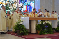 Deacon McElrath assists at the Altar.