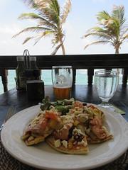 Flatbread with salmon, for lunch, Atlantis Hotel, Bathsheba, Barbados (Paul McClure DC) Tags: bathsheba barbados westindies stjoseph caribbean apr2017 hotel