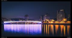 Liege @ Night (Falcdragon) Tags: ilce7 sonya7alpha minoltaaf50mmf17 panorama cityscape river meuse de maas liège night longexposure starburst