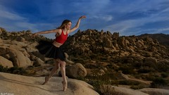 Ghosts that Haunt My Mind - Sunset Joshua Tree National Park (Kent Freeman) Tags: urban ballet joshua tree national park marine de vachon sunrise sun canon eos 5d mark iii ef1740mm f4 l usm