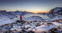 Nordic Sunset (Frederic Huber | Photography) Tags: 1124 1635 2017 2470 70200 landschaft canoneos5dsr eos fotodiox frederichuber frederichuberphotography freearc frost landscape leefilters lofoten norway norwegen photography schnee snow wonderpana wwwfrederichubercom haukland beach nordic lofoften sunset sunrise sonnenuntergang sonnenaufgang winter dreamscape mountains see sand blue blau red rot