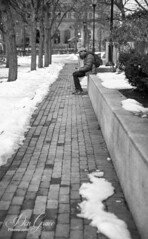 Winter Walk (dlgrace) Tags: snow winter park lonely alone brick city providence rhode island
