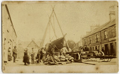 The yacht 'Alma' being raised on a tripod, 1873 (P&KC Archive) Tags: building tourism fashion sport architecture scotland 19thcentury perthshire scene recreation roads royalty aberfeldy spectacle perthandkinross