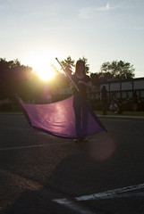 flag 5 (Hey_Lee! Photography) Tags: school sunset sun color girl lens high purple flag spin guard spinning flare colorguard