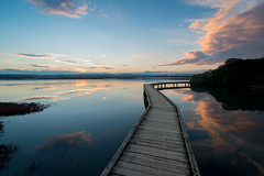 Over the Pond (ajecaldwell11) Tags: light sunset newzealand sky clouds dusk boardwalk napier hawkesbay ahuriri