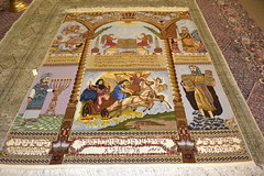 Judaism Persian Area Pictorial Tabriz Silk Rug (www.tableaurug.com) Tags: persian silk area rug judaism tabriz