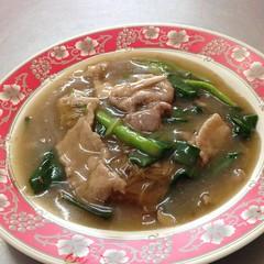 ก๋วยเตี๋ยวเส้นหมี่ราดหน้าหมู | Rice Vermicelli With Pork Sauce @ เฮียอ้วน ราดหน้า | Hia Uan